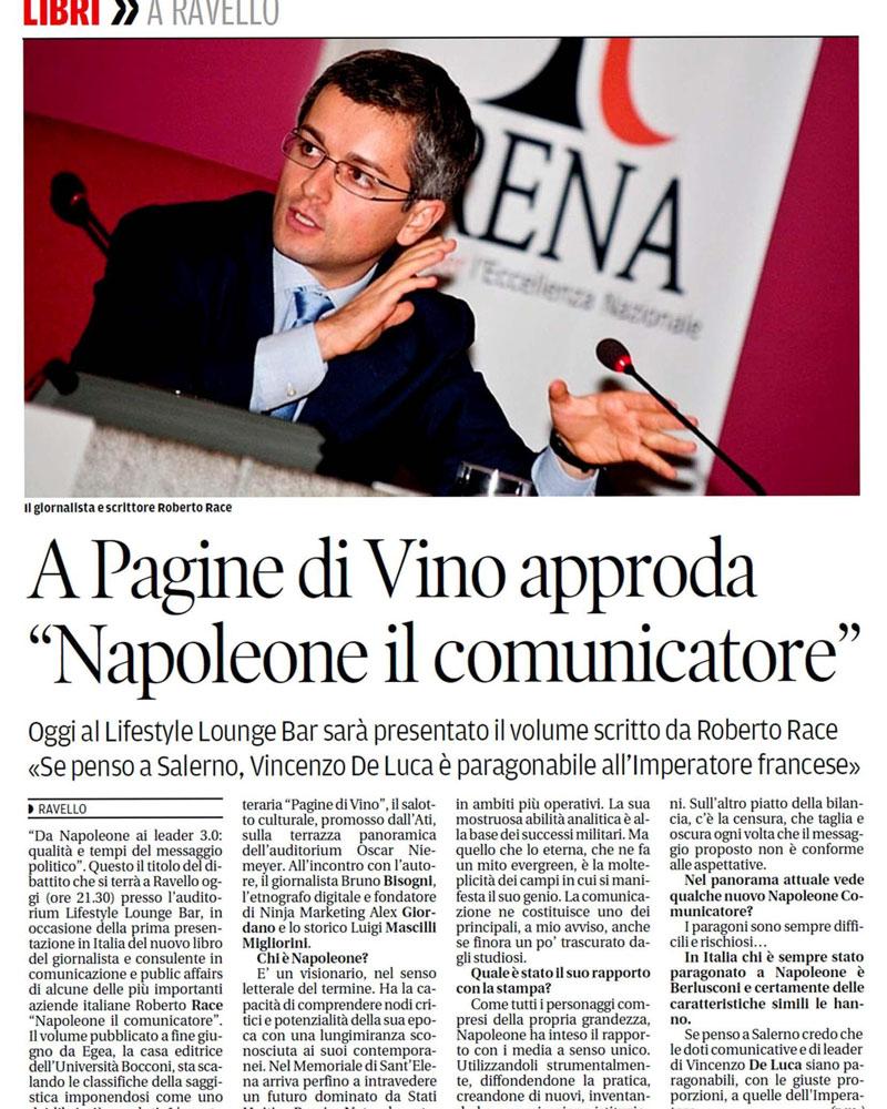 A Pagine di Vino approda Napoleone il comunicatore