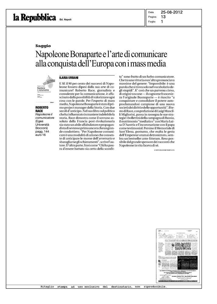 Napoleone Bonaparte e l'arte di comunicare l'Europa con i mass media