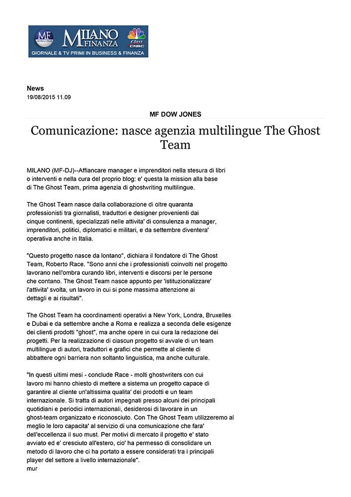 Comunicazione: nasce agenzia multilingue The Ghost Team