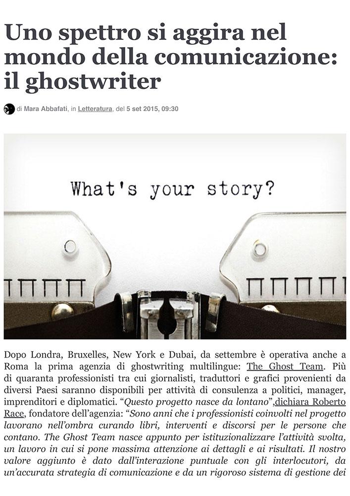 Uno spettro si aggira nel mondo della comunicazione: il ghostwriter