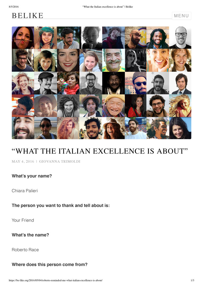 What The Italian Excellence is About