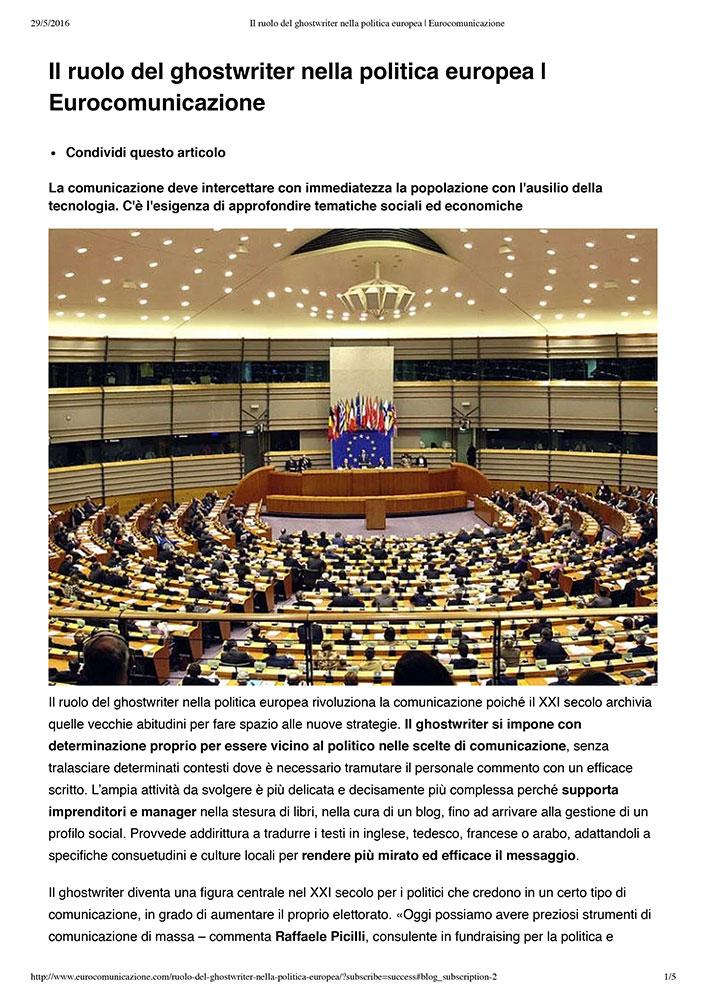 Il ruolo del ghostwriter nella politica europea I Eurocomunicazione