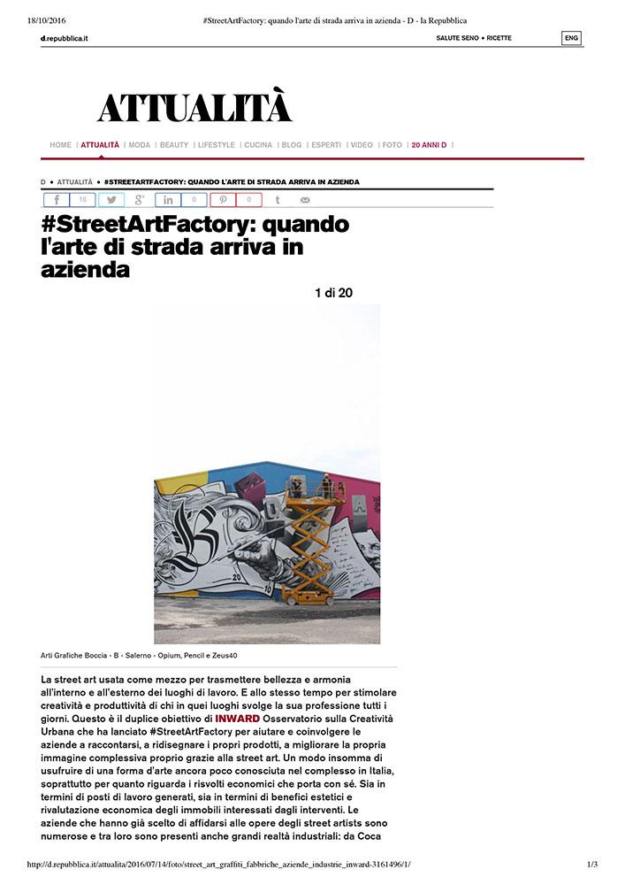 StreetArtFactory: quando l'arte di strada arriva in azienda