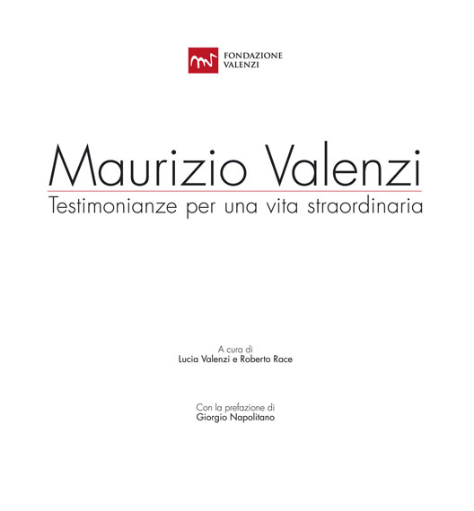 Maurizio Valenzi. Testimonianze per una vita straordinaria copertina
