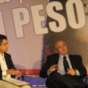 Ad un dibattito con il Sindaco di Salerno Vincenzo De Luca al premio Sele d'Oro. Settembre 2009