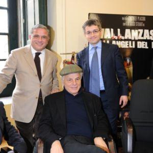"""Con Michele Placido e Vittorio Pappalardo alla presentazione di """"Vallanzasca. Gli angeli del male"""". Napoli 19 Gennaio 2011"""
