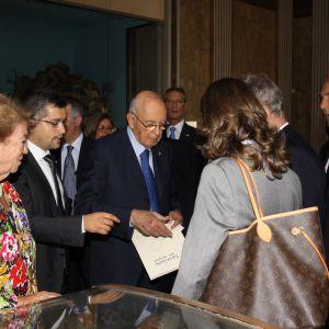 Il Presidente Napolitano con la signora Clio