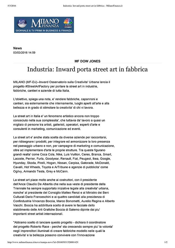 Industria: Inward porta street art in fabbrica